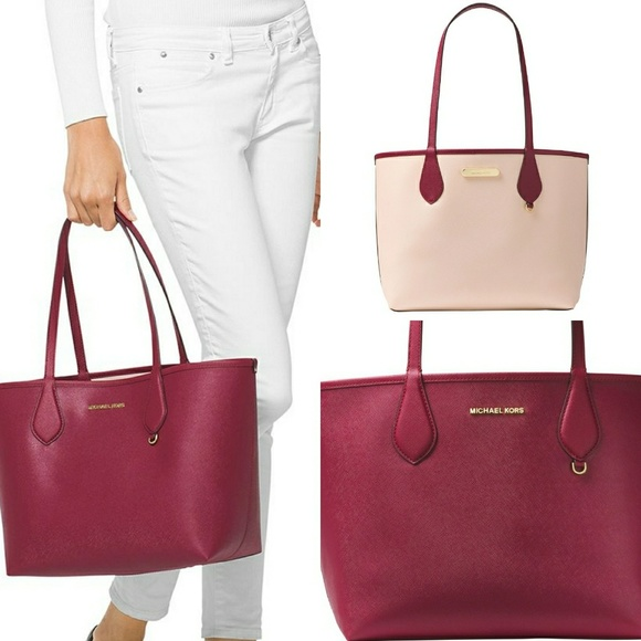 2e161deaf8d3 Michael Kors Bags | Saige Medium Reversible Tote | Poshmark